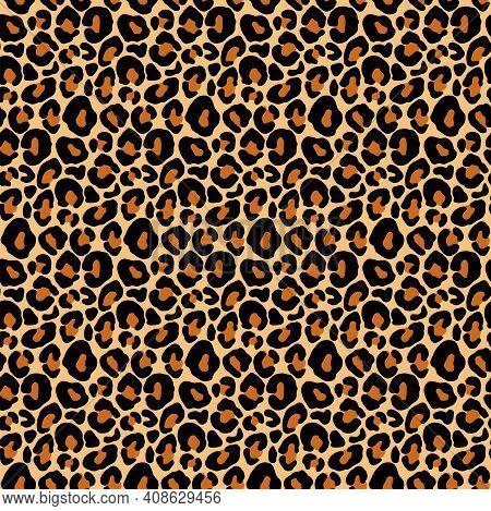 Leopard Print, Cheetah Seamless Pattern, Jaguar Texture. Jungle Exotic Background. Leo Repeat Vector