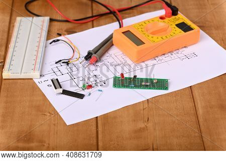 Electronic Board And Many Other Electronic Parts.