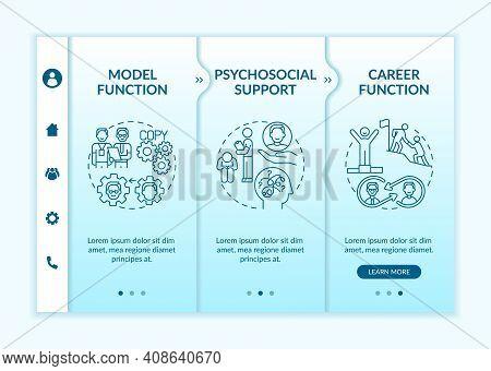 Development Of Support Program Onboarding Vector Template. Psychosocial Needs And Career Anxieties.