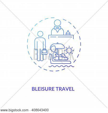 Bleisure Travel Concept Icon. Spontaneous Trip Idea Thin Line Illustration. Travel During Covid 19 P