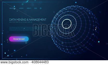 Technology Sphere Abstract Background. Data Mining And Management. Finance Concept Business Software