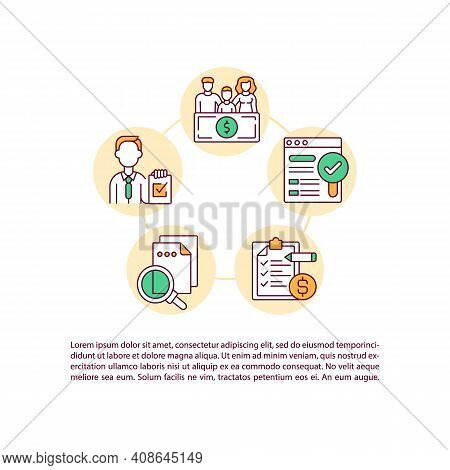 Clean Energy Production Permit Concept Icon With Text. How To Apply Ppt Page Vector Template. Global