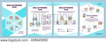 Decluttering Tips Brochure Template. Cleaning House Rooms. Flyer, Booklet, Leaflet Print, Cover Desi