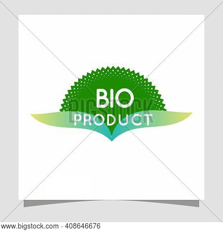 Skin Care Natural Vectors. Bioorganic Eco Green Labels For Bio And Natural Food With Text 100 Percen