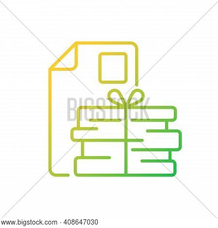 Waste Paper Gradient Linear Vector Icon. Paper Recycling. Paperboard, Cardboard Products. Napkins An