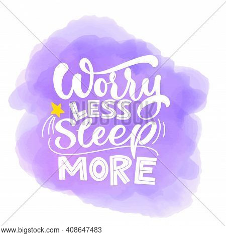 Funny Sleep And Good Night Quotes. Vector Design Elements For T-shirts, Pillow, Posters, Cards, Stic