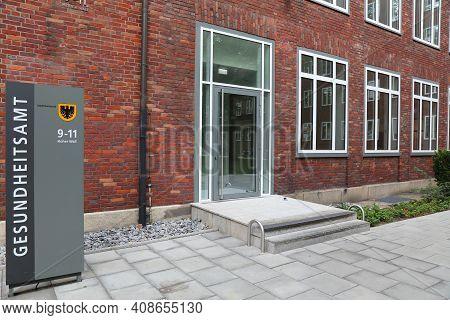 Dortmund, Germany - September 16, 2020: Gesundheitsamt (public Health Office) In Dortmund, Germany.
