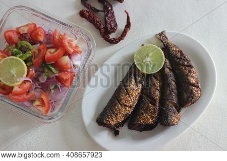 Sardines Fry Is A Traditional Kerala Fish Dish Served For Lunch