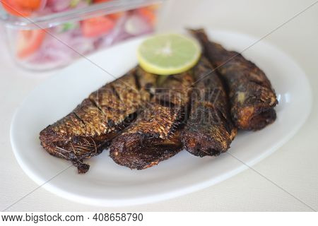 Sardines Fry Is A Traditional Kerala Fish Dish Served For Lunch.