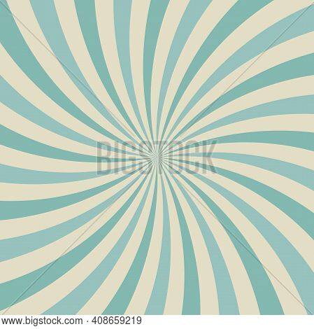 Sunlight Background. Faded Blue And Beige Color Burst Background. Vector Illustration. Sun Beam Ray