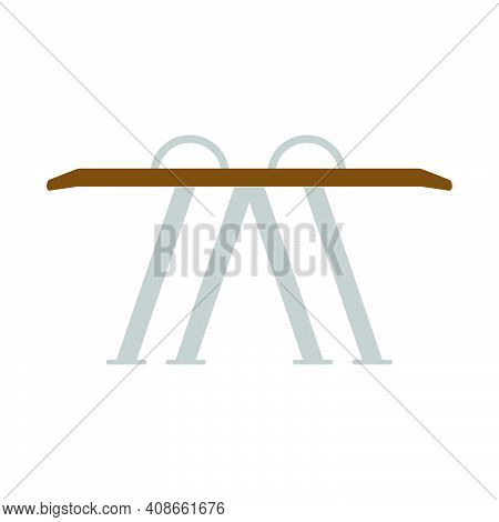 Gymnastic Parallel Bar Sport Vector Illustration. Horizontal Bar Silhouette Competition Gymnast Trai