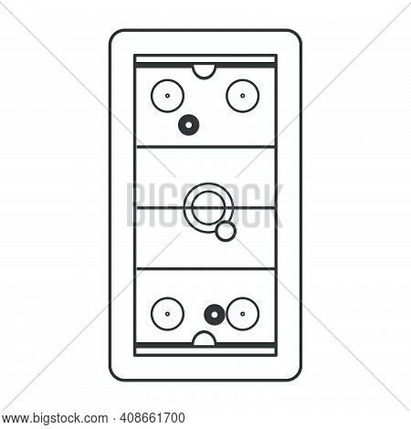 Air Hockey Table Vector Illustration Leisure Entertainment Competition Sport Isolated White. Air Hoc