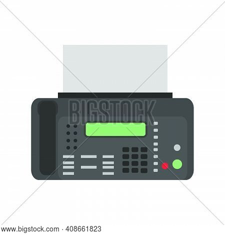 Fax Icon Vector Illustration Business Phone Sign. Office Fax Communication Mail Contact Icon Printer