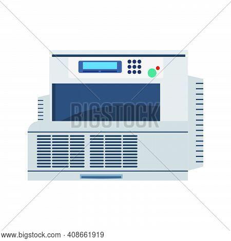 Office Printer Technology Vector Illustration. Computer Printer Paper Machine Equipment Design Icon.