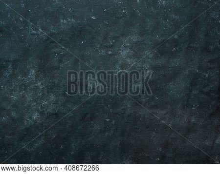 Dark Mottled Rustic Background. Black Blue Canvas Backdrop For Design. Natural Linen Colored Black B