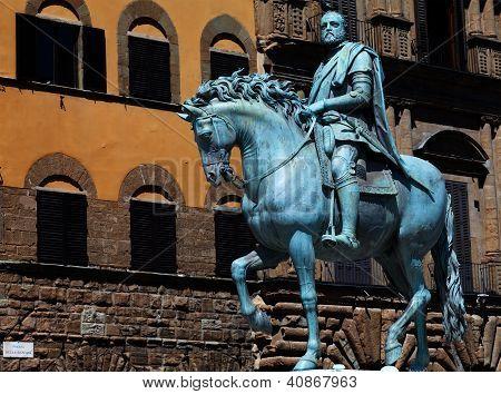 The Bronze Statue Of Cosimo I De' Medici