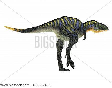 Aucasaurus Dinosaur Tail 3d Illustration - Aucasaurus Was A Carnivorous Theropod Dinosaur That Lived