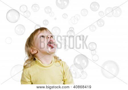 Little Boy And Seifenblasen
