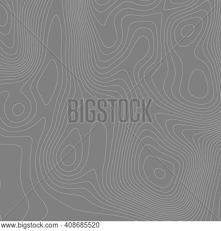 Abstract Paper Cut Shapes. Topographic Map On White Background. Topo Map Elevation Lines. Contour Ve