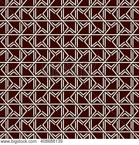 Grid Seamless Pattern. Geometric Mosaic Surface Print. Parquet Tile, Flooring Ornament. Repeated Int