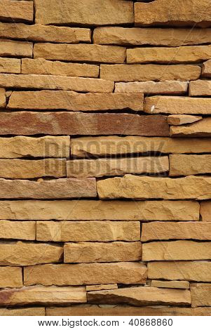 Rock sand on wall