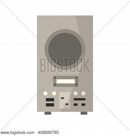 Vintage Music Object. Retro Radio. Color Symbol Design. Vector Illustration Design Template