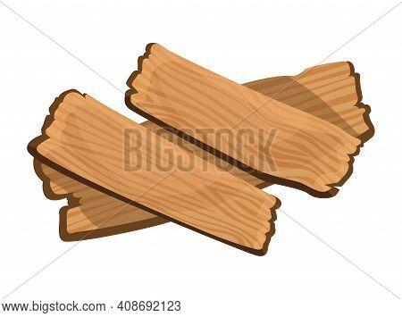 Wooden Signboard. Cartoon Brown Wooden Plate. Old Guidepost, Vintage Restaurant Signpost Or Advertis