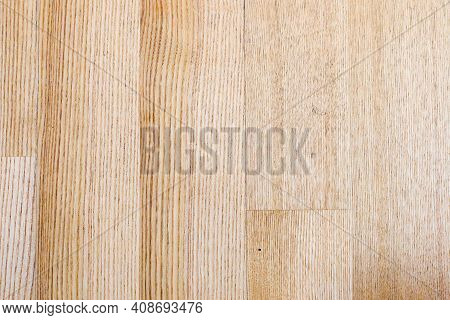View Of An Oiled Parquet Made Of Ash Wood As A Texture Or Background. High Quality Photo