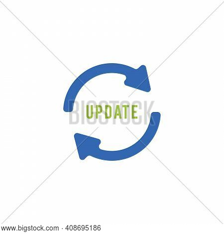 Update Software Icon. Concept Of Update Refresh Icon, For Graphic And Web Design Vector Illustration