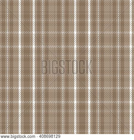Tan and White Plaid Background Illustration
