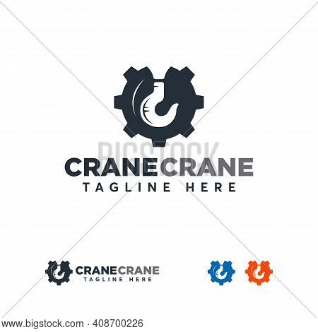 Crane Logo Designs , Build Logo Design. Construction Logo. Vector Sign Or Symbol For Construction In