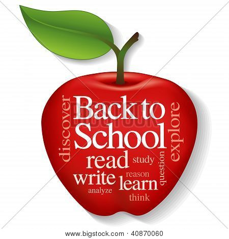 Apple Word Cloud, Back To School