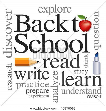 Word Cloud, Back To School