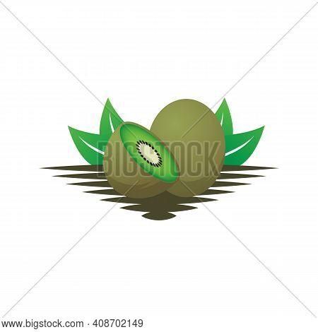 Kiwi Fruit Logo Designs Vector, Illustration Of Kiwi Fruit Template