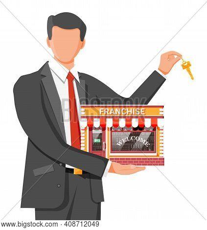 Franchise Business For Sale. Franchising Shop Building Or Commercial Property. Real Estate Business
