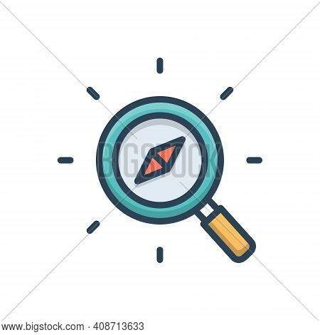 Color Illustration Icon For Discover Compass Search Explorer