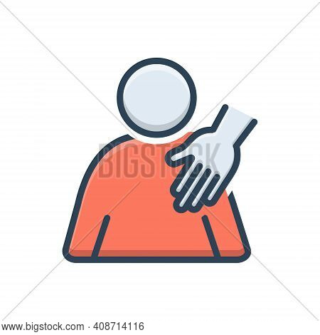 Color Illustration Icon For Sexual Harassment  Abuse Hostile