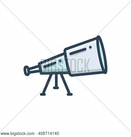 Color Illustration Icon For Telescope  Binoculars Spyglass