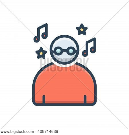 Color Illustration Icon For Carefree Careless Reckless Irresponsible Rapturous