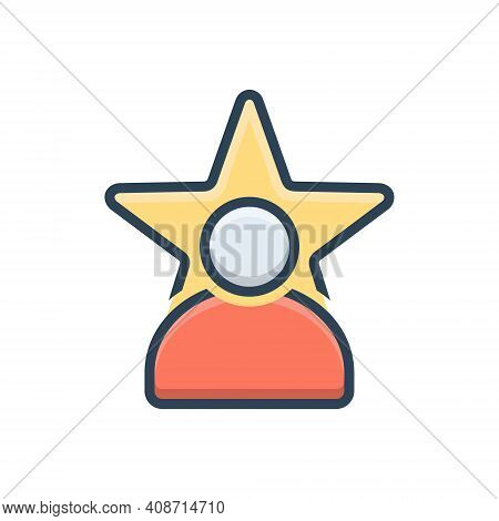 Color Illustration Icon For Celebrity Magnate Fame  Prominence Popularity