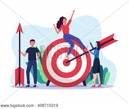 Business Target Vector Illustration