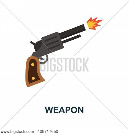 Weapon Flat Icon. Color Simple Element From Weapon Collection. Creative Weapon Icon For Web Design,
