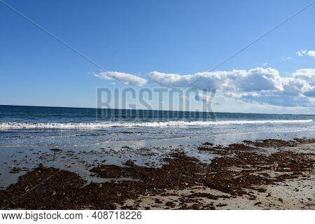 Beach At Hampton Beach State Park In Hampton, New Hampshire (usa)