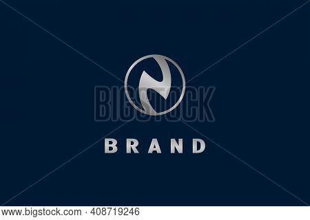 Circle Letter N Logo, Modern Elegant Simple And Minimalist Logo Design.