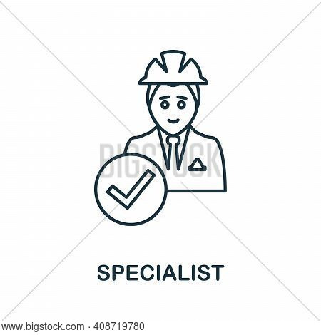 Specialist Icon. Simple Element From Management Collection. Creative Specialist Icon For Web Design,