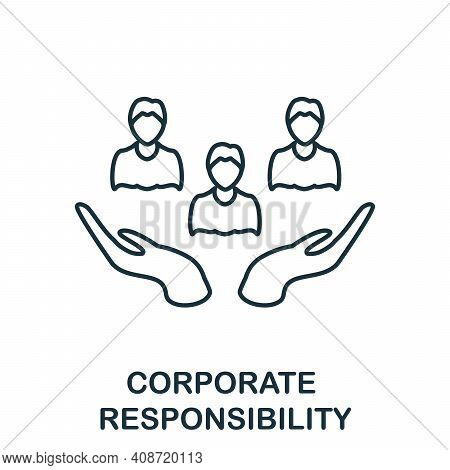 Corporate Responsibility Icon. Simple Element From Management Collection. Creative Corporate Respons
