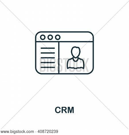 Crm Icon. Simple Element From Management Collection. Creative Crm Icon For Web Design, Templates, In