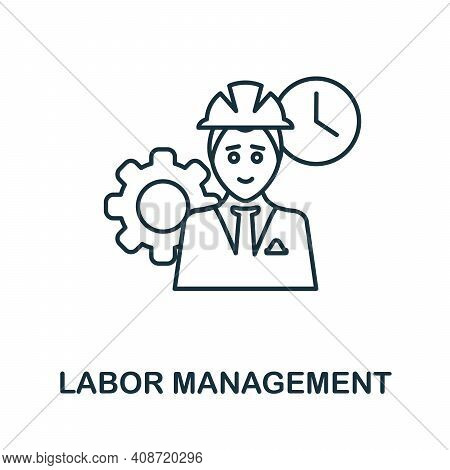 Labor Management Icon. Simple Element From Management Collection. Creative Labor Management Icon For