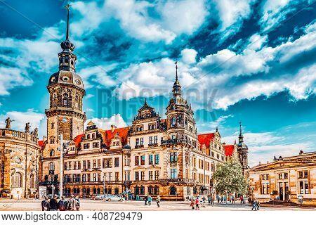 Dresden, Germany-september 08, 2015 : Dresden Castle (green Vault) In The Historic Center Of Dresden