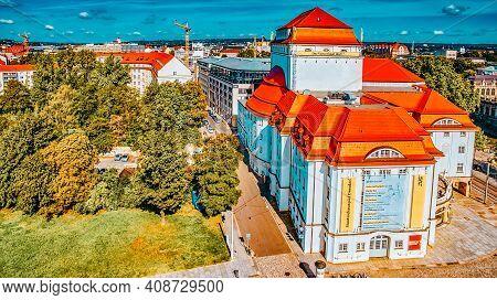 Dresden, Germany-september 08, 2015 :  Histoirical Center Of The Dresden Old Town. Dresden Has A Lon